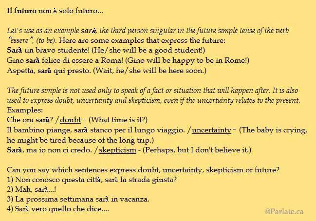 Il futuro semplice – The future simple