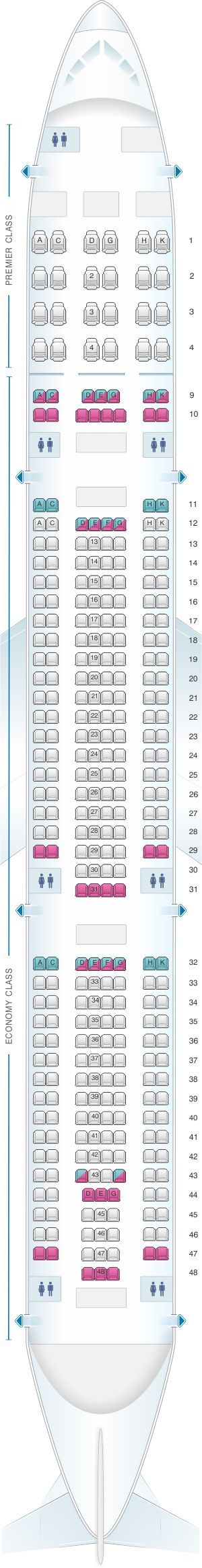 Seat Map Aer Lingus Airbus A330 300