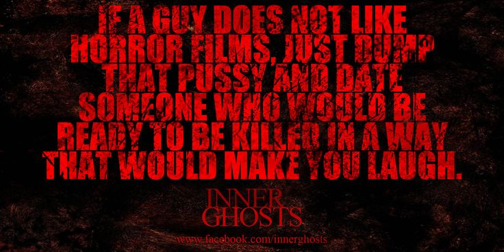 What to do if a guy does not like horror films?