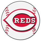 MLB Cincinnati Reds White 2 ft. 3 in. x 2 ft. 3 in. Round Accent Rug