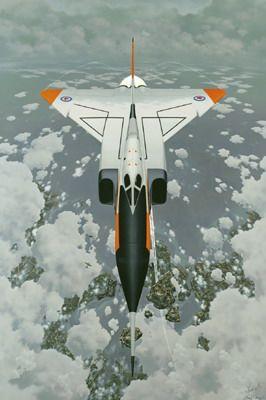Arrow rendering - Canada's CF-105 Avro Arrow