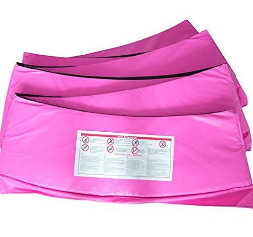 15 ft. Trampoline Replacement Safety Pad Spring Cover - Pink - http://www.exercisejoy.com/15-ft-trampoline-replacement-safety-pad-spring-cover-pink/fitness/