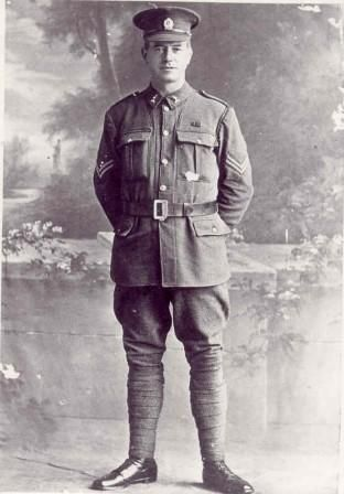WWI New Zealand solider in uniform