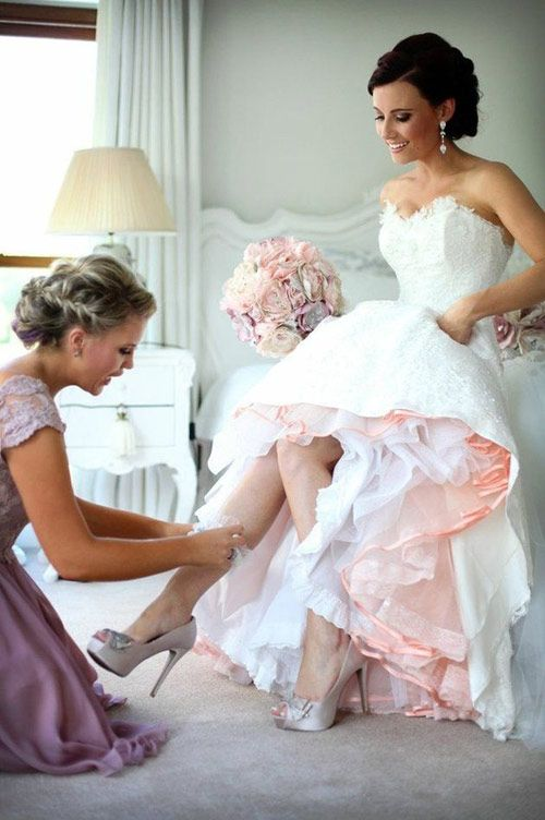 le jupon de mariée demi-teinte !
