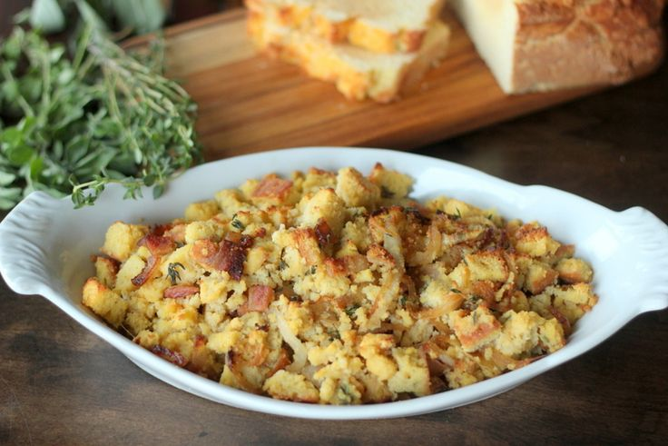 """""""Healthified"""" Stuffing = 95 calories, 7.5g fat, 5.2g protein, 2.2 carbs, 0 fiber"""