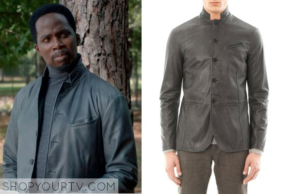 Constantine: Season 1 Episode 7 Manny's Gray Leather Jacket