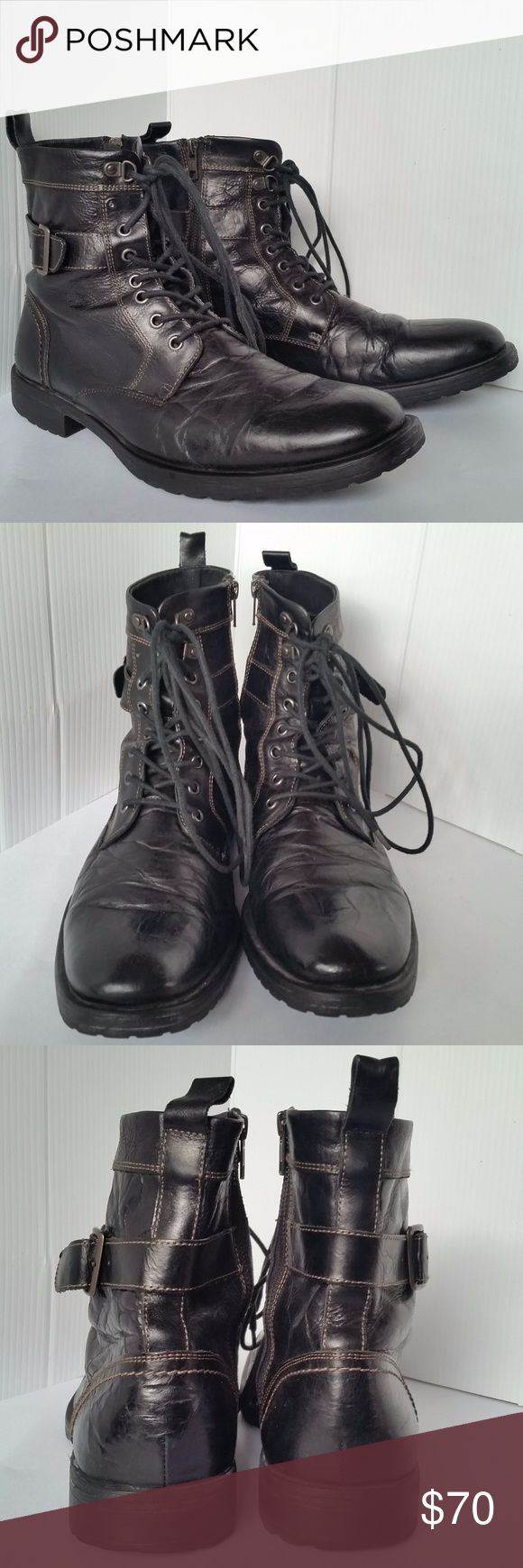 Aston Grey Rockcastle 2 Black Combat Boots Size 11 Aston Grey Rockcastle 2 Black Combat Boots  Size 11  Distressed Rugged Steampunk Look Great condition, shows some wear, the sole is a little worn , but the upper is great! Aston Grey Shoes Boots
