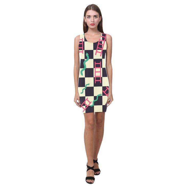 Snakes and Ladders Game Medea Vest Dress (Model D06)