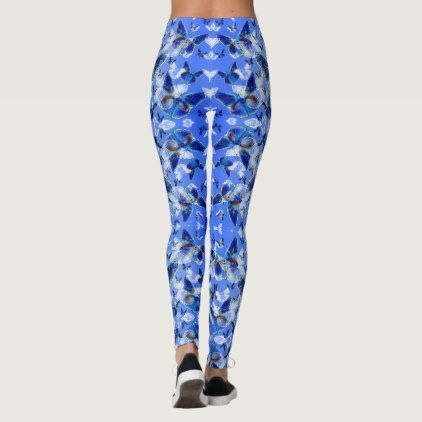 Butterflies - abstract image with Common Blue Leggings - pattern sample design template diy cyo customize