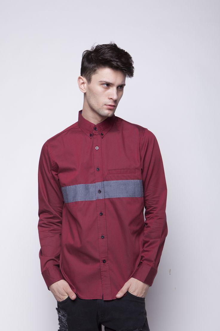 Vertical Grey Shirt | IDR 180.000