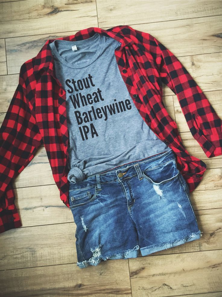 Beer List Shirt by Folklore Couture - Stout, Wheat, Barleywine, IPA #craftbeer