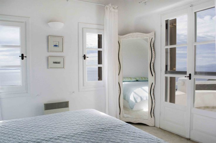 Bedroom ( Interior Design of Luxury Complex near Ag. Stefanos in Mykonos, designed by A+D Architects and Designers)