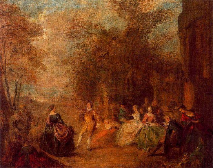 'land tanz' von Jean-Baptiste Pater (1695-1736, France)