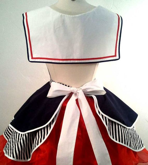 Sailor Sue Pin Up Costume Apron от SassyFrasCollection на Etsy