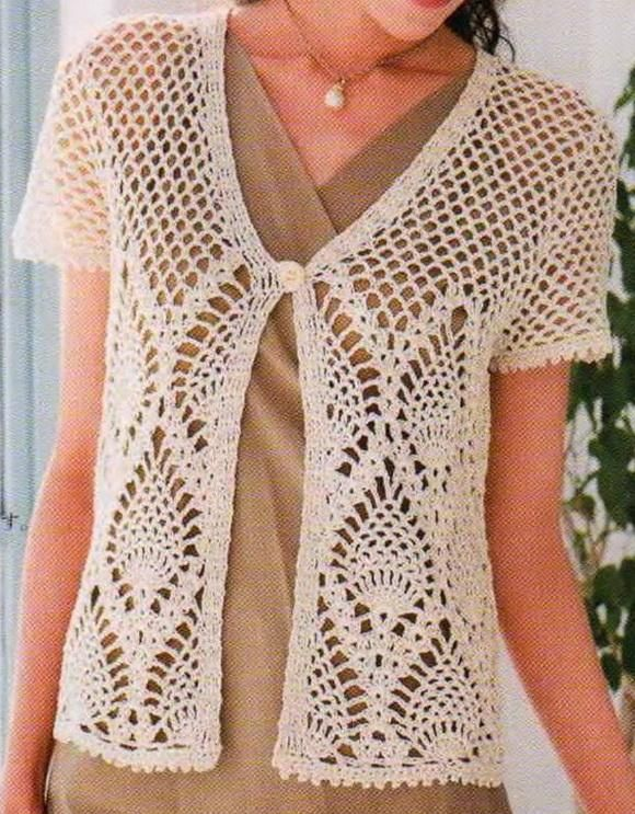 sweaters and shawls crochet | Elegant Crochet Sweaters: Womens Crochet Sweater with Free Pattern ༺✿ƬⱤღ http://www.pinterest.com/teretegui/✿༻