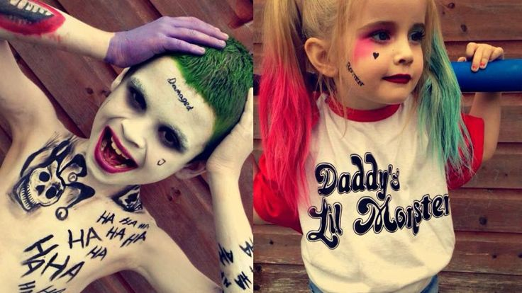 KIDS Version Suicide Squad | Joker & Harley Quinn Makeup