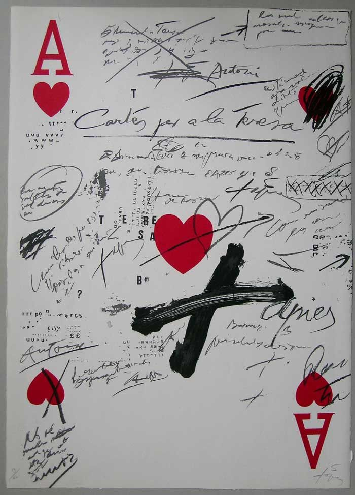 'Cartes per la Teresa' lithograph 1976 Antoni Tapies - Spain