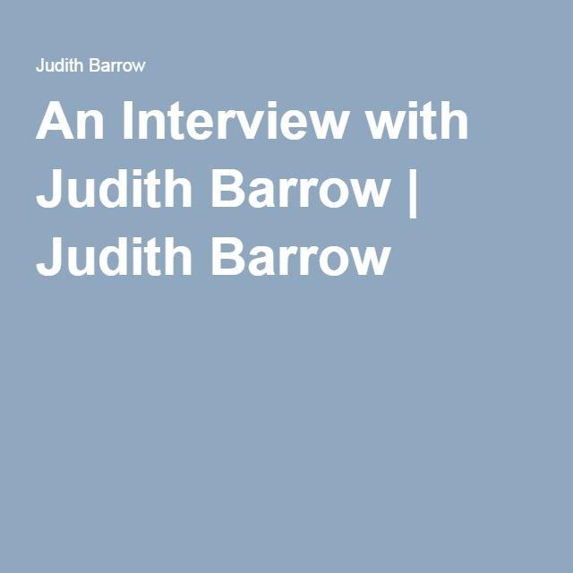 An Interview with Judith Barrow | Judith Barrow
