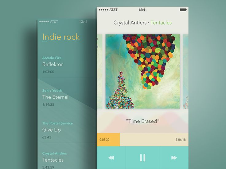 Another screen for the music player app, containing the album information and player controls. Real pixels attached.  -  Twitter