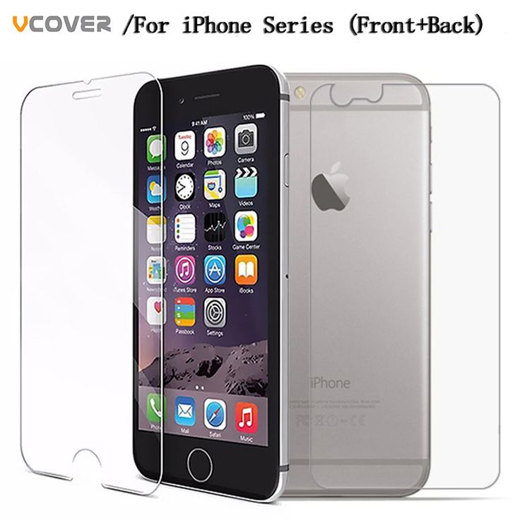 Vcover 2PCS Front Back Tempered Glass For iPhone 4 4s 5 5s 5c i6 i6s glass i6plus i6s plus i7 glass i7 plus Screen Protector  *** Details on product can be viewed by clicking the VISIT button