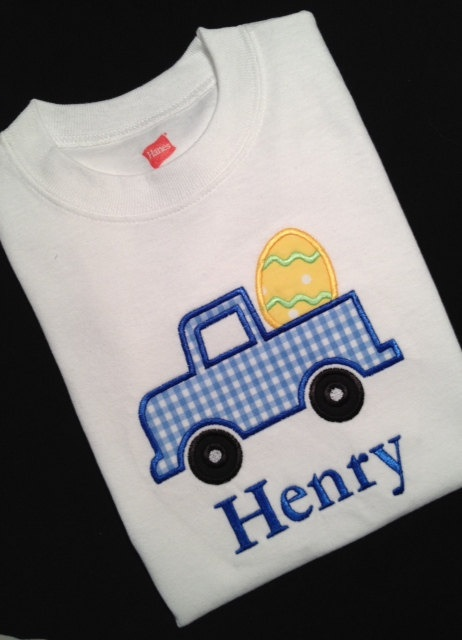 Easter+Applique+Shirt+or+Onesie+for+Boy+by+LilMonkeyEmbroidery,+$20.00