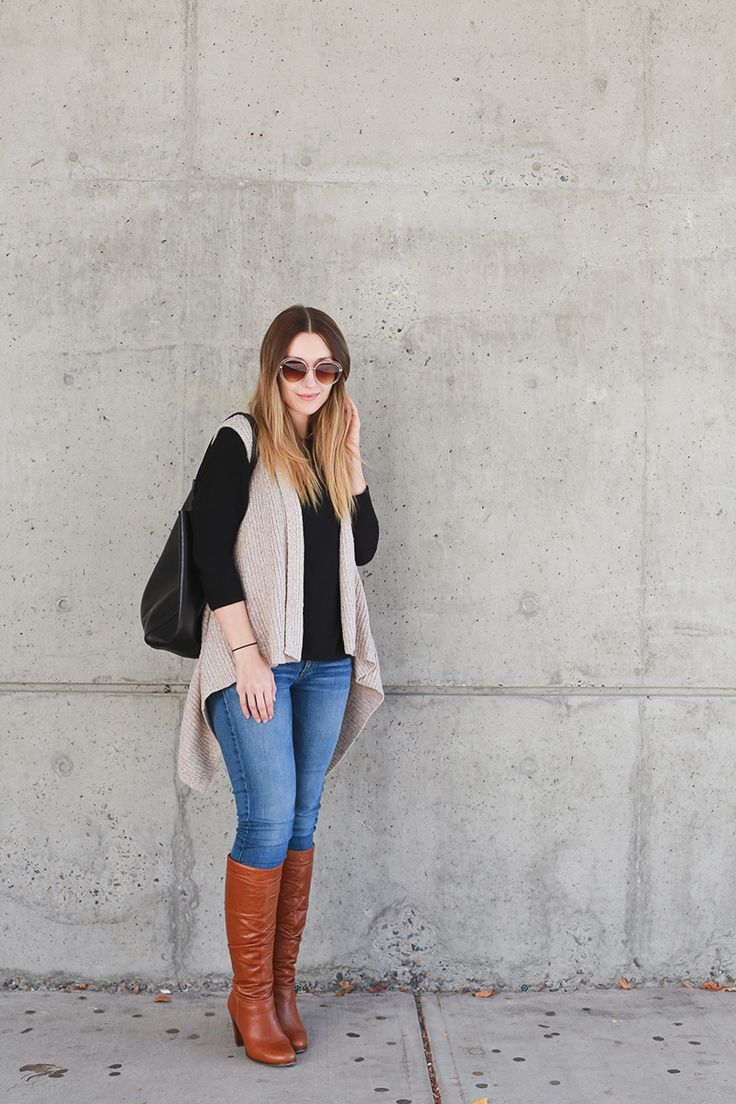 The Perfect Everyday Sweater Vest. Now on Girl & Closet {a style blog for the everyday gal}!