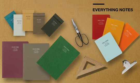 Everything Notes by NAVA Design: a couple of sizes, great paper binding choices.
