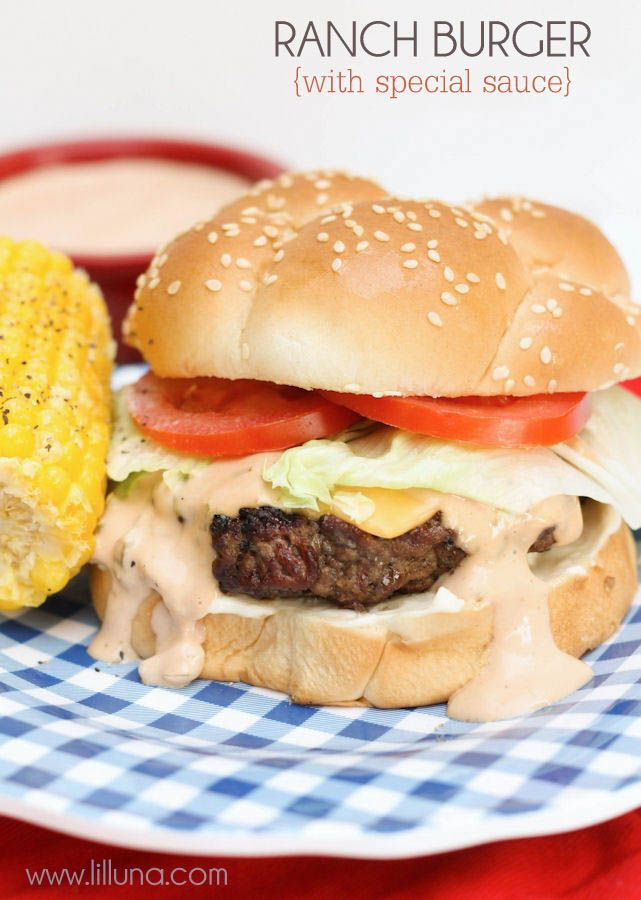 Ranch Burger recipe