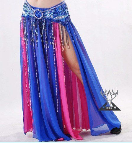 belly dance costume wear/sexy two-tone belly dance skirt /Belly Dancer dress,wholesales,free shipping