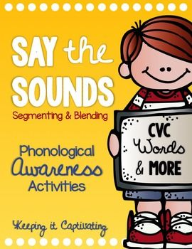 Say the Sounds will give you 9 activities to practice blending and segmenting phonemes for small group instruction, intervention, or independent centers.