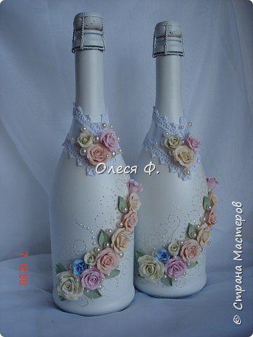 Декор предметов Свадьба Лепка Что-то от Шебби  Пластика фото 9