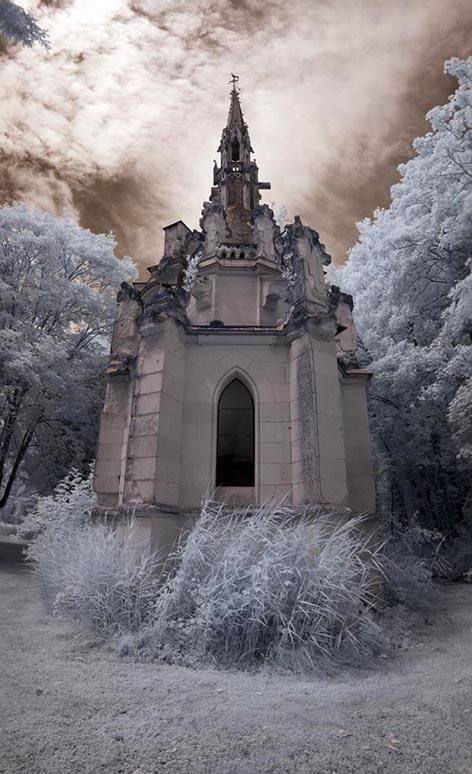 Abandoned…Château de la Mothe-Chandeniers, a castle at the town of Les Trois-Moutiers in the Poitou-Charentes region of France, photo: by Infraredd