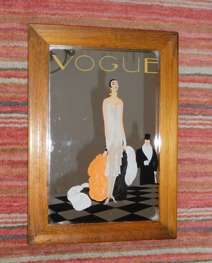 A VINTAGE VOGUE MIRROR WITH FLAPPER GIRL ~ SOLD ON MY EBAY SITE LUBBYDOT1