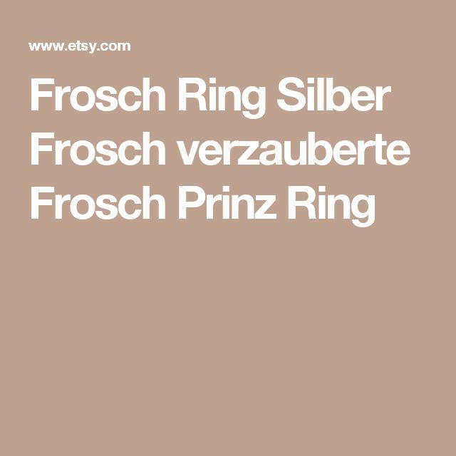 Frosch Ring Silber Frosch verzauberte Frosch Prinz Ring