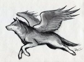 Winged Wolf von RobtheDoodler