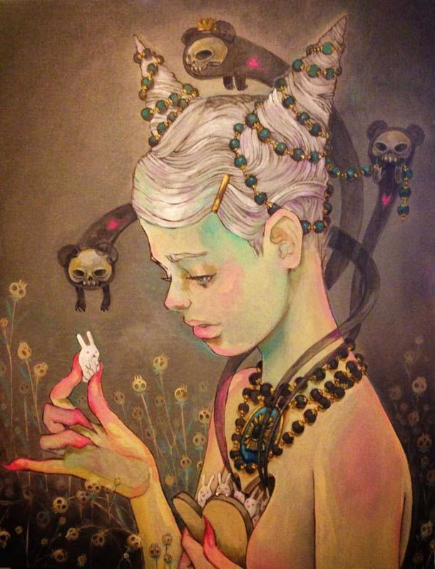 Une sélection des illustrations et peintures de l'artiste américaine Chiara Bautista, basée à Tucson en Arizona. Un univers onirique et poétique, sombre mais magnifique, qui illustre avec beaucoup de talent les sentiments et les états d'esprit de son auteur… Enorme coup de coeur !