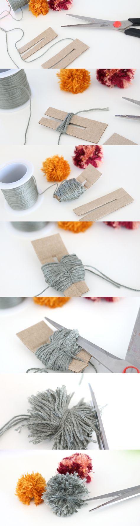 Maak hippe pompom bedels van DIY weefdraad van Betaalbarekralen