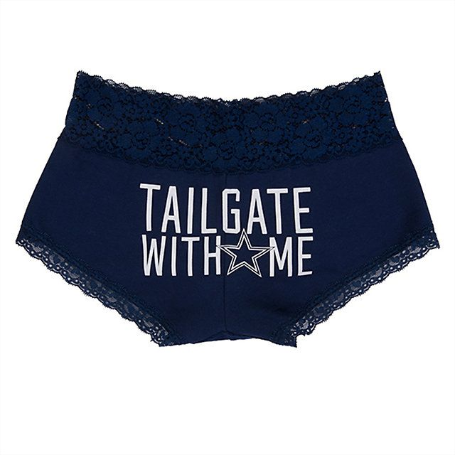 OMG!!! Why do I not have these?!?!?!? Dallas Cowboys PINK Tailgate With Me Lace Boyshort | Bottoms | Other | Womens | Cowboys Catalog | Dallas Cowboys Pro Shop