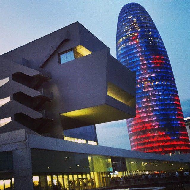 Torre Agbar & Museu del Disseny in Barcelona, Catalonia