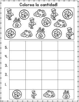 Graficas:  March Spanish Count and Graph It