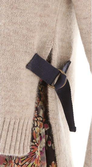 detalle para agrandar un sweater ajustado