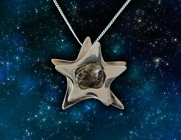 Give someone an actual shooting star! http://www.ilovesciencestore.com/promos/silver-star-campo-del-cielo-meteorite-pendant.html