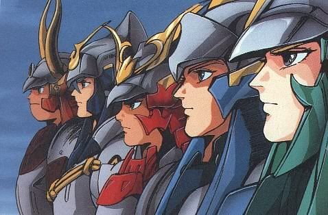 The ronin warriors ryo sage cye kento rowen anime - Ronin warriors warlords ...