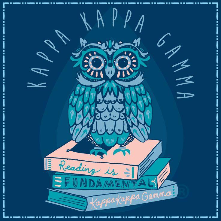 Geneologie | Greek Tee Shirts | Greek Tanks | Custom Apparel Design | Custom Greek Apparel | Sorority Tee Shirts | Sorority Tanks | Sorority Shirt Designs  | Sorority Shirt Ideas | Greek Life | Hand Drawn | Sorority | Sisterhood | Philanthropy | KKG | Kappa Kappa Gamma | Owl | Reading