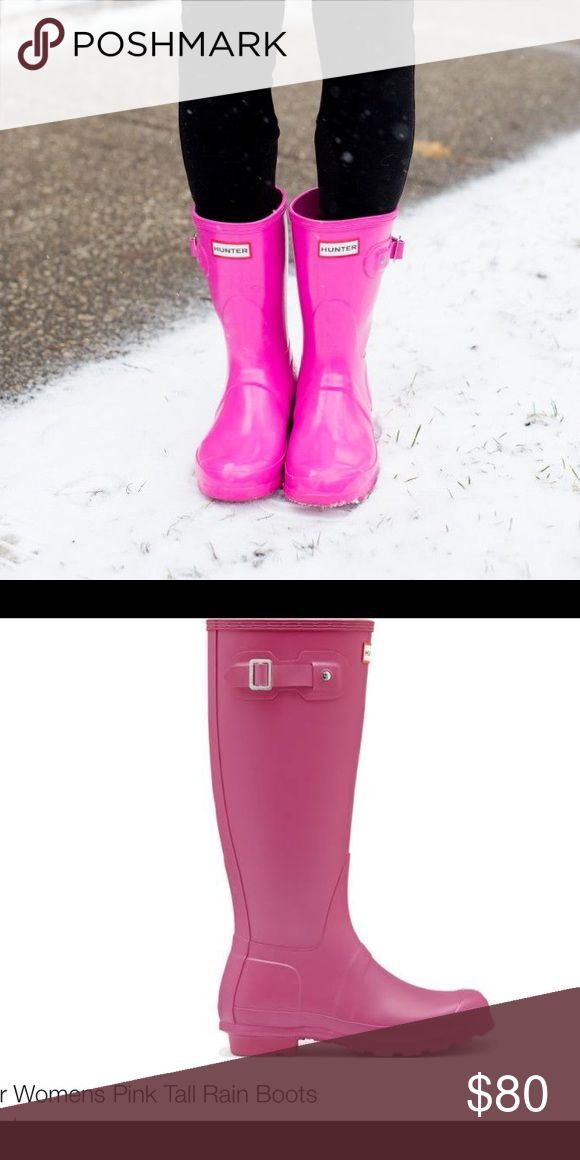 BRAND NEW Hot Pink Hunter Rain Boots NWT BRAND NEW Hot Pink Hunter Rain Boots NWT Hunter Boots Shoes Winter & Rain Boots