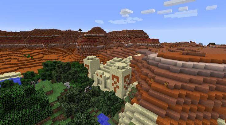Beautiful PC/Mac Minecraft Bryce Biome with Desert Temple!