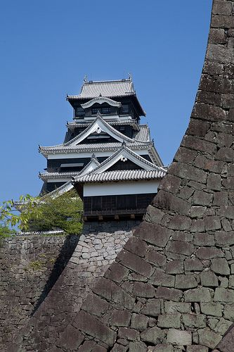 Impregnable walls of Kumamoto castle, Japan. Awesome!! Been here too.