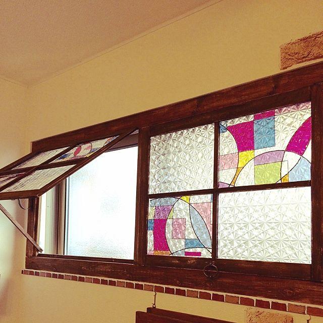 貼るだけでこんなに見違える 簡単ガラスシート活用例 ステンドグラス風 室内窓 障子 Diy