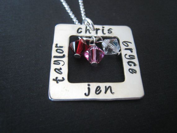 hand stamped personalized sterling silver by stampedjewellery, $53.00