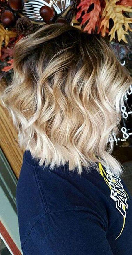Short Blonde Balayage Hair
